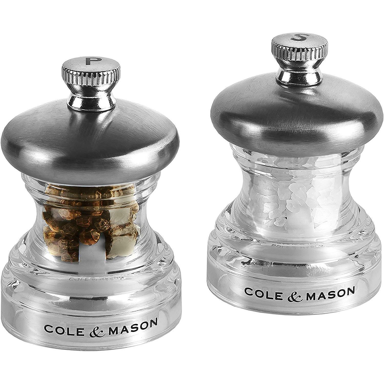 Set di macina Pepe e Sale Cole /& Mason Compatto in Acciaio Inox