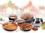 Gotham-Steel-10-Piece-Kitchen-Nonstick-Frying-Pan-amp-Cookware-Set-4-Colors-NEW