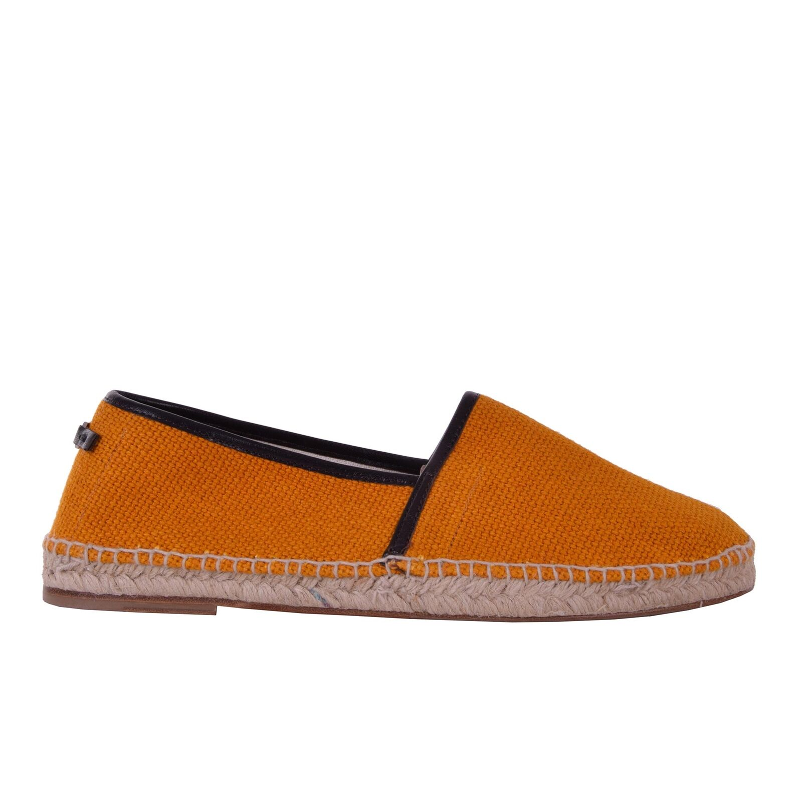 DOLCE & GABBANA Linen Canvas Espadrilles Shoes TREMITI Orange Logo 06237