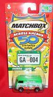 Matchbox Across America 50th Birthday Series Georgia Ga Vw Panel Van 1:64
