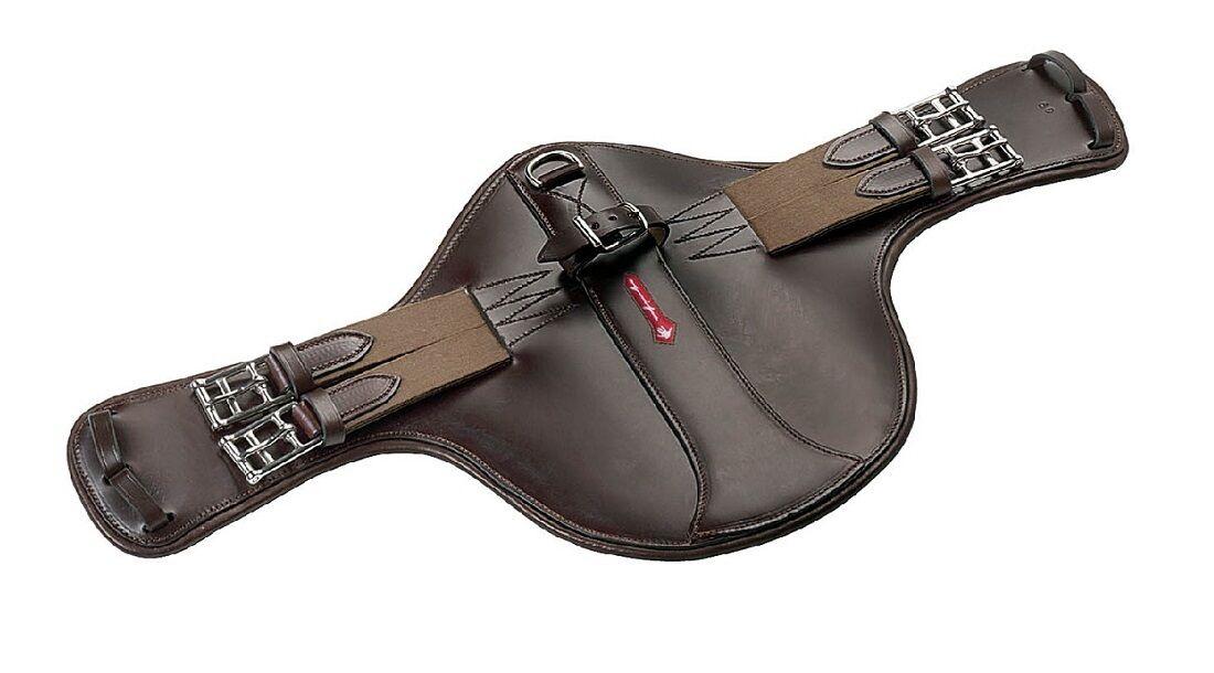 Selleria EQUIPE SHORT cuoio caso Stud Guard sottopancia GH20 Nero  Marronee110150cm
