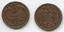 G3999 - Österreich 2 Heller 1912 UNC Erhaltung KM#2801 Franz Joseph I. 1848-1916