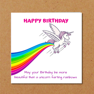 Image Is Loading UNICORN Birthday Card For Girl Friend Daughter Teen