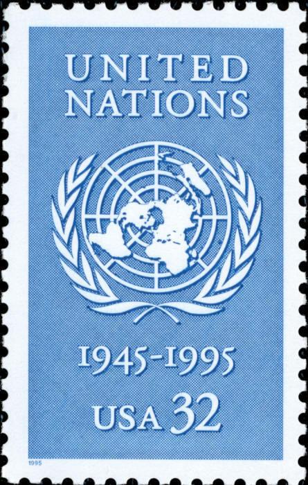 1995 32c United Nations, 50th Anniversary Scott 2974 Mi