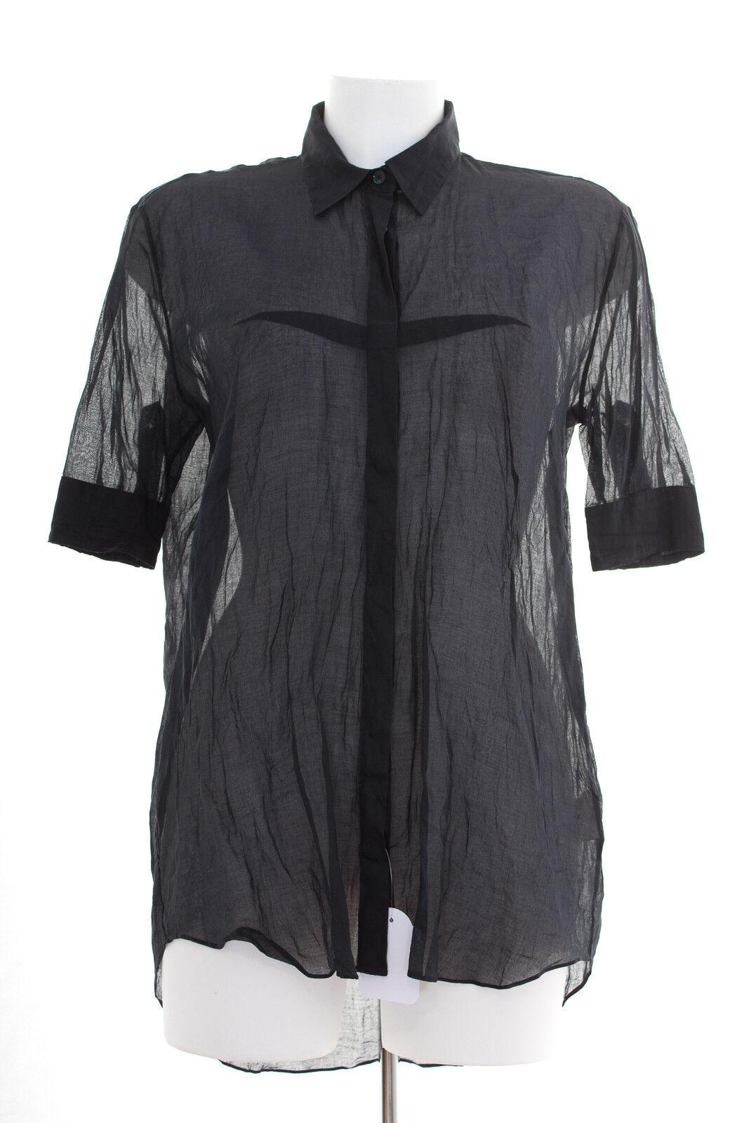 Acne Camicia Tg. de 36 Donna Blouse Cotone Blu