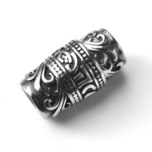 Edelstahl Steck Magnetverschluss mit Gravur für runde Bänder bis Ø 8,5 mm