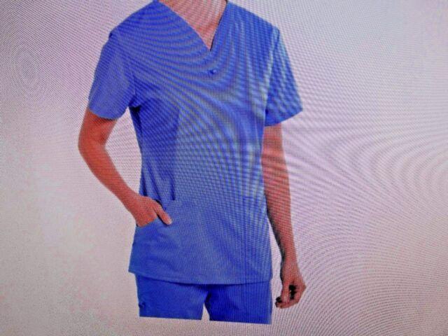Nurse Mates Stretch Medical Scrub Set Ceil 980061//9802 Large MFSRP 50.77 New