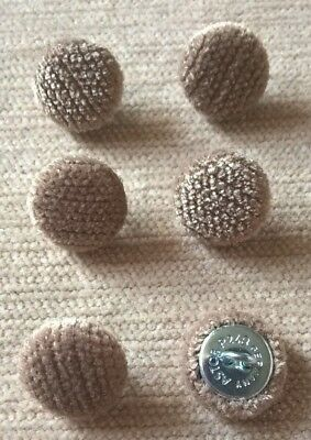 Chenille Velvet 24L//15mm Brown Upholstery Fabric Covered Buttons Craft Sewing