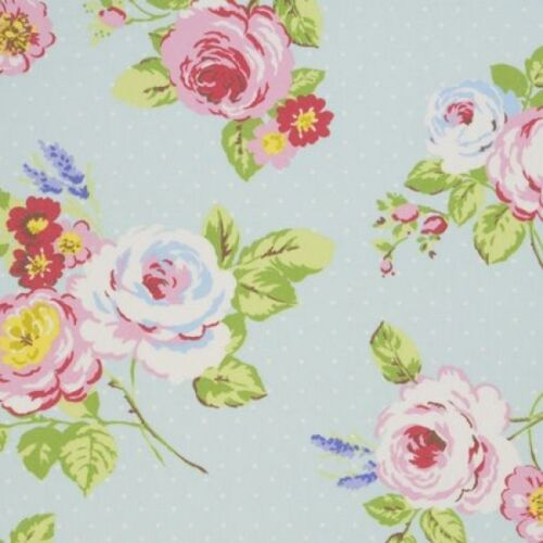 Clarke and Clarke Studio G English Rose in Seafoam Upholstery Curtain Fabric