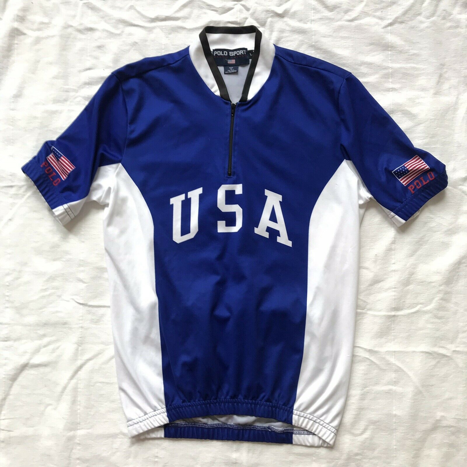 Polo sport USA bike jersey spellout made in  usa large  the best online store offer