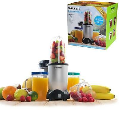 SALTER DELUXE 21PC ELECTRIC FRUIT VEG VEGETABLE BLENDER JUICER SMOOTHIE MAKER