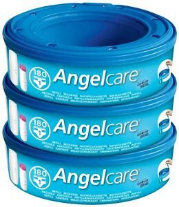 3-x-Angelcare-Nappy-Disposal-System-Refill-Cassettes-Wrappers-Bag-Sacks-Pack-Bin