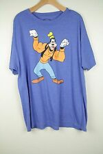 Disney Mens Blue Body Builder Goofy Graphic T Shirt SZ 2X