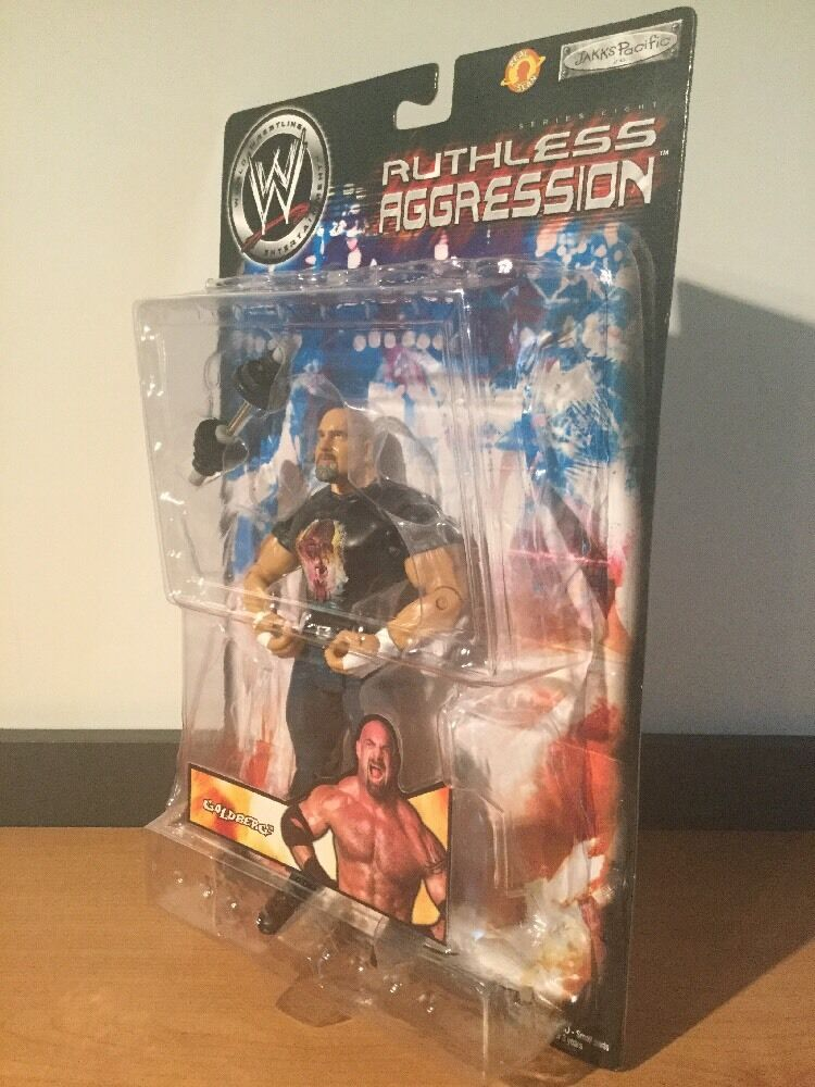 MOC WWE Ruthless Aggression Series 8 goldberg Action Figure 2004 Jakks Pacific
