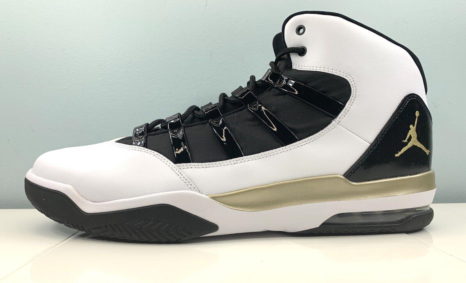 Size 11.5 - Jordan Max Aura White Black Gold for sale online   eBay