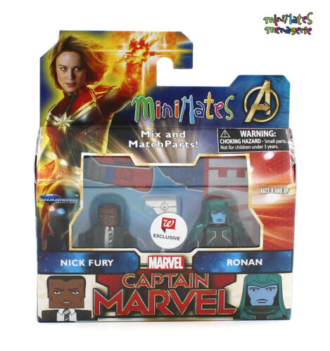 Marvel Minimates Walgreens Captain Marvel Movie Nick Fury /& Ronan