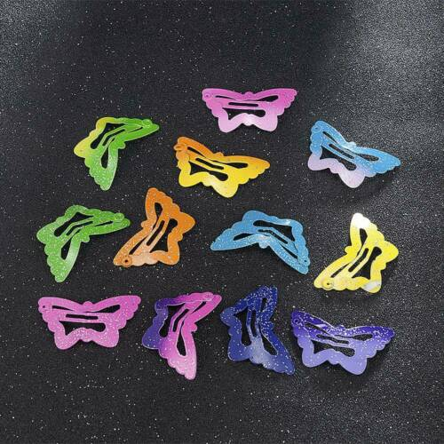 Lots 12Pcs//set Kids Girl Candy Color Hair Clips Snap BB Clips Hairpin Barrettes