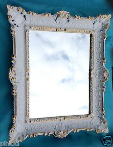 Specchio muro oro bianco shabby chic barocco specchio - Rubinetteria bagno bianco oro ...