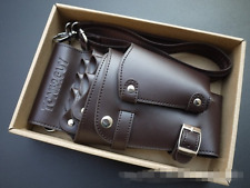 Hairdresser Barber Scissor Hairdressing Holster Pouch Holder Case Bag PU leather