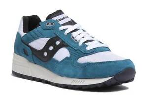7e9eb53c3495 Saucony Shadow 5000 Vintage Mens Teal White and Black Trainers UK ...