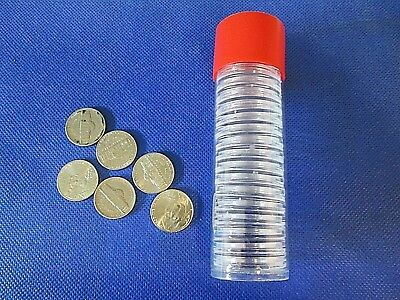Red Capsule Tube /& 20 Air-Tite T30 Direct Fits US Half Dollar Coin Holders