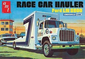 Amt Ford Ln 8000 Race Car Hauler Truck 1 25 Scale Car Model Kit