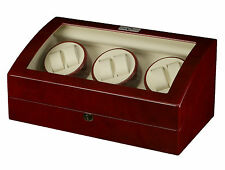 New High Quality Diplomat Redwood 6 Watch Automatic Winder Box w/ Storage for 7
