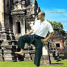 Meditación yoga masaje Tai Chi wickelhose 100% algodón-color negro 1001