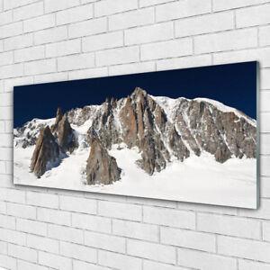Impression sur toile Image tableaux 125x50 Paysage Maisons Montagnes