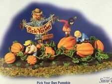 Dept 56 Snow Village Halloween Spooky Village Pick Your Own Pumpkin 55244