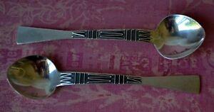 Vintage-Danish-Silver-Plated-Coffee-Spoons-set-2-TJ-MET