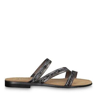 Tamaris 1 1 27121 22 916 Schuhe Damen Pantoletten Dori pewter schwarz comb. | eBay