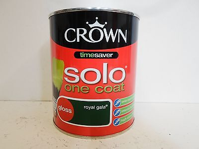 Crown - Royal Gala Green Paint - Solo One Coat Gloss Paint - 750ml -  Timesaver 5010131420290 | eBay