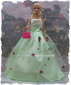 Sublime-Robe-bustier-drape-Poupee-barbie-mannequin-vetement-Princesse