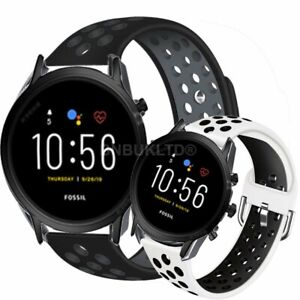 For Various Fossil Gen 5 Smart Watch Silicone Sports Band Strap Breathable