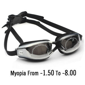 0f0d4c9d190 Details about Optical -1.5 to -8.00 Myopia Swimming Goggles Anti-Fog UV  Waterproof glasses