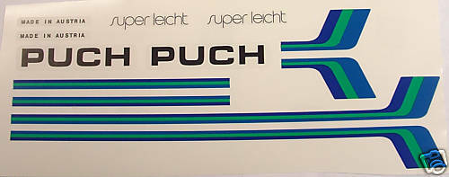 Puch  decal set for Austrian vintage bike choice  lowest whole network