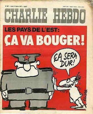 """""""charlie Hebdo N°327 Du 17/2/1977"""" Reiser : Les Pays De L'est ça Va Bouger ! Mooi Van Kleur"""