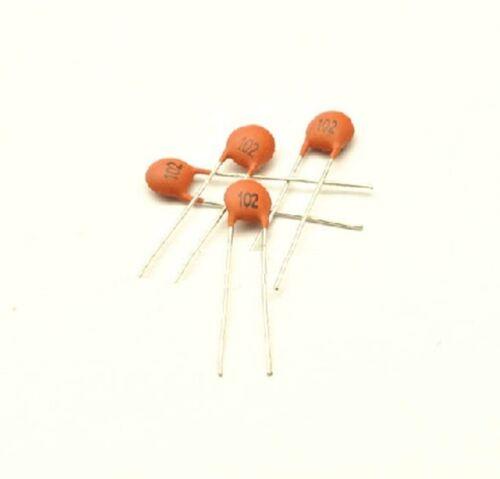 100Pcs 102pF 1000pF 1nF 50V 102 DIP Ceramic Disc Capacitors NEW