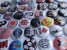80s 90s Mixed Music button lot. (100 pcs)  retro rock grunge punk  accessories