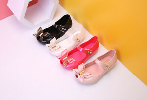 Sales-Butterfly-Girls-Fish-Head-Shoes-Sandals-Toddler-Mini-Melissa-US-Size-6-11