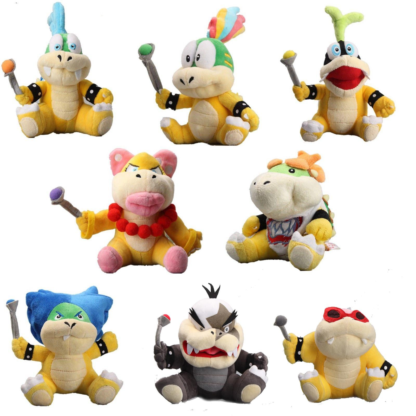 8X Super Mario Koopa Kinder Baby Jr. Koopalings Larry Lemmy Ludwig Plüsch Bowser