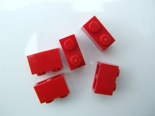 5 x Lego Red Brick Parts /& Pieces size 1x2 - 300421