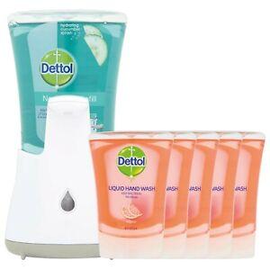 Dettol No Touch Hand Wash System 250ml + 1 Cucumber + 5 Grapefruit Refills