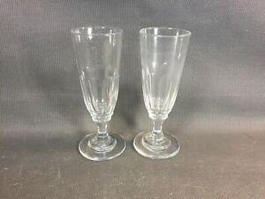Détails sur Lot 2 flutes à champagne en verre épais vintage verres à vin de bistrot