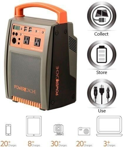 Portable Power Station Generator Bank AC DC USB for Camping Outdoor Charging