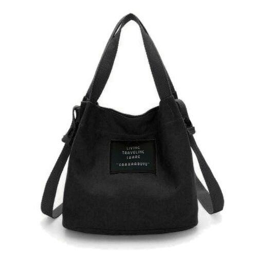 Fashion Femmes Sac d/'épaule sacoche Bandoulière Fourre-tout sac à main Purse Messenger toile