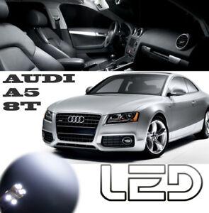 AUDI-A5-coupe-Pack-12-Ampoules-LED-Blanc-Boite-gant-miroir-Coffre-plafonnier