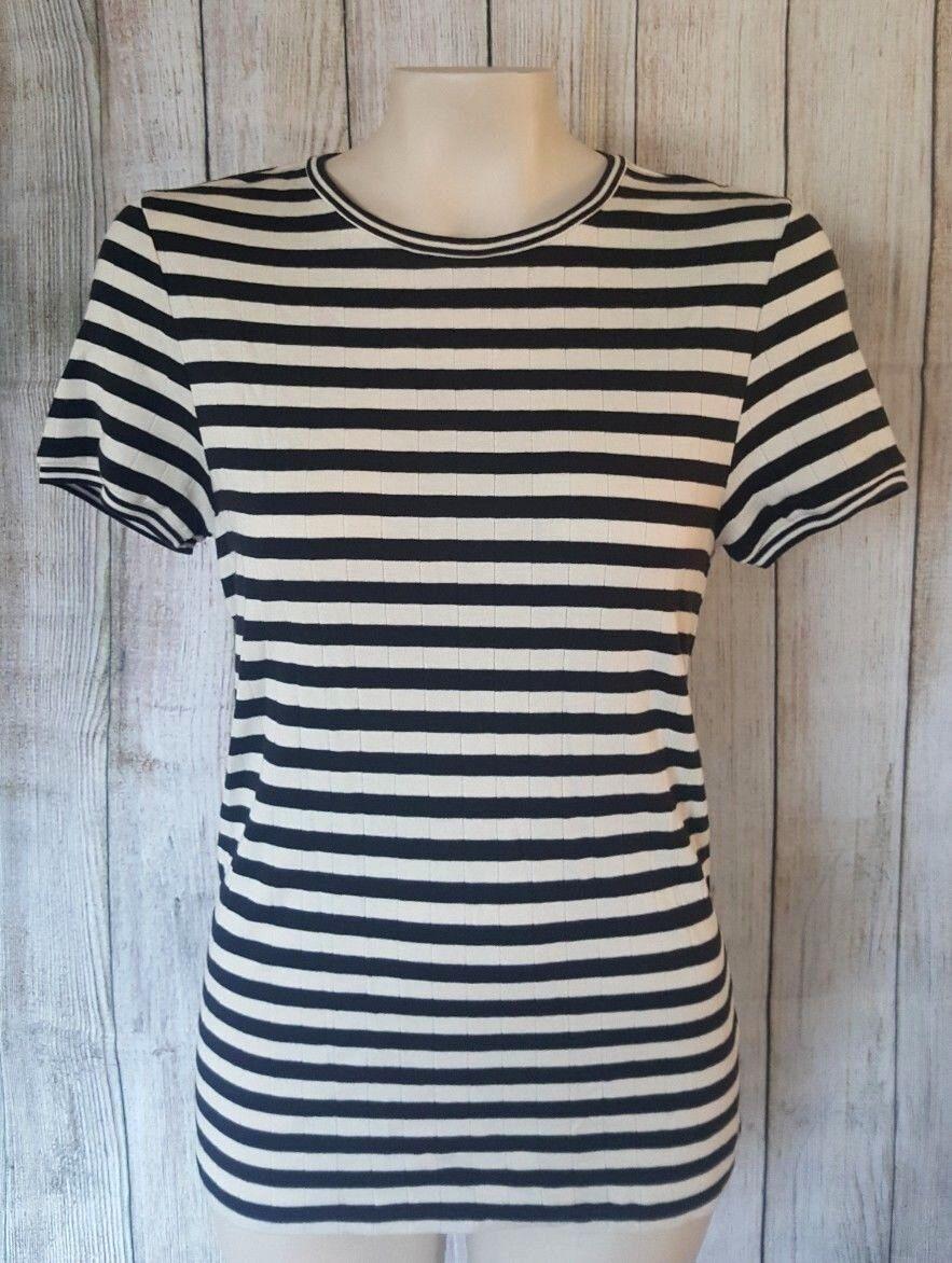Polo Ralph Lauren Striped damen T-Shirt Top Short Sleeve Größe XL