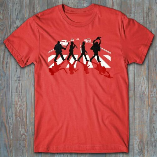 horror movies The Beatles parody Funny T-shirt ABBEY ROAD